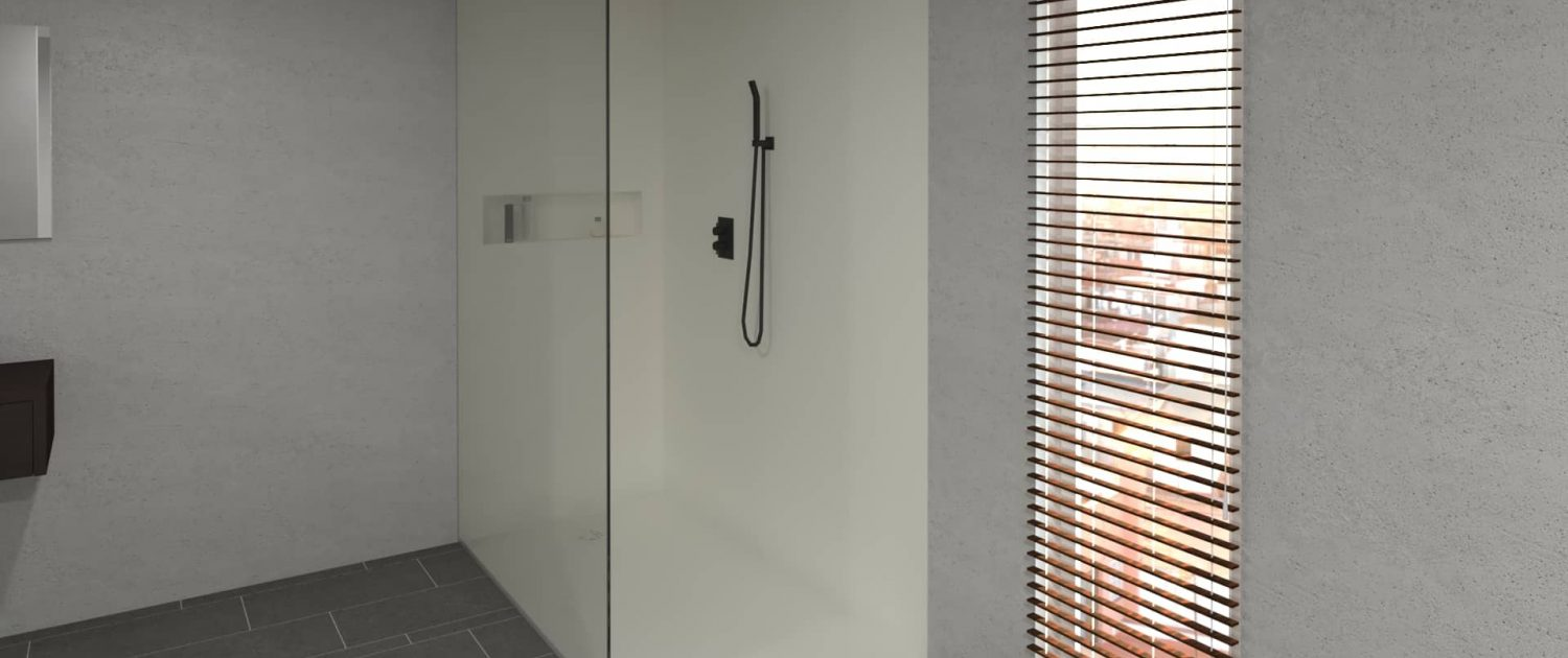 Corian Smart Showertray met douchewanden