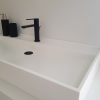 CORA Solid Surface wasbak - Royal Large Sideview
