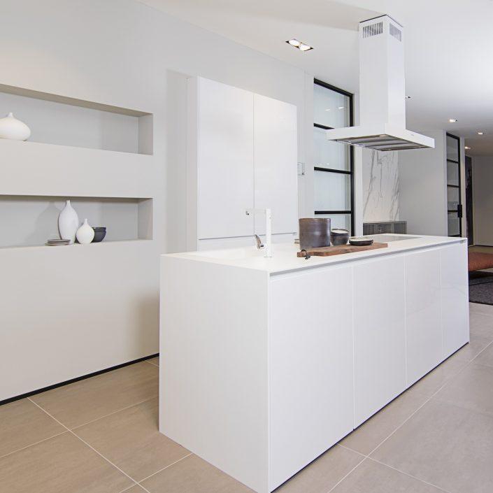 Keukenblad Corian met wanden