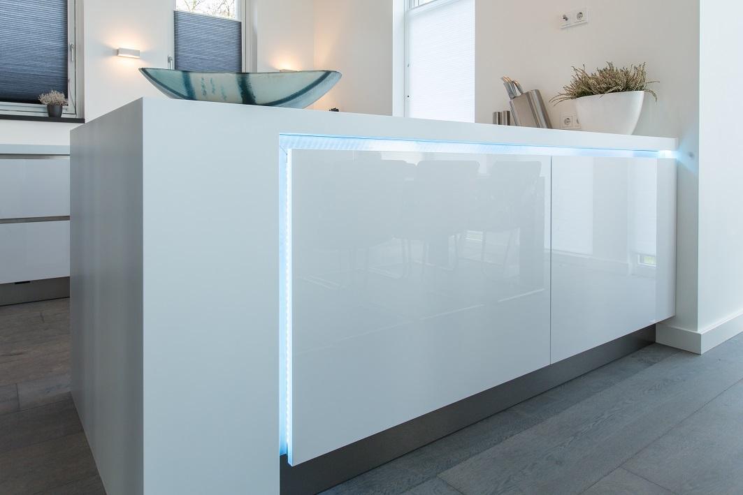 Corian werkblad met LED-verlichting