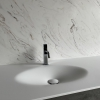 CORA Thermo Oval Front - Solid Surface wastafel Corian - HI-MACS - detail