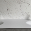 CORA Thermo Oval Front - Solid Surface wastafel Corian - HI-MACS - dubbel