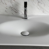 CORA Thermo Oval Front - Solid Surface wastafel Corian - HI-MACS - front