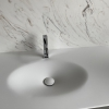 CORA Thermo Oval Front - Solid Surface wastafel Corian - HI-MACS - topview