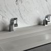 Obliquo Neutral Concrete MAATWERK - CORA CARRARA CREMO ACHTERWAND