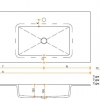 Solid Surface wastafelblad op maat - CORA INCOLLATO 500 dubbel