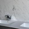 Solid Surface wastafelblad op maat - CORA Incollato dubbel