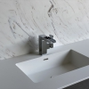 Solid Surface wastafelblad op maat - CORA Incollato right