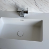 Solid Surface wastafelblad op maat - CORA Incollato top view