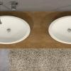 Juice Oval Solid Surface Opzetkom bovenaanzicht