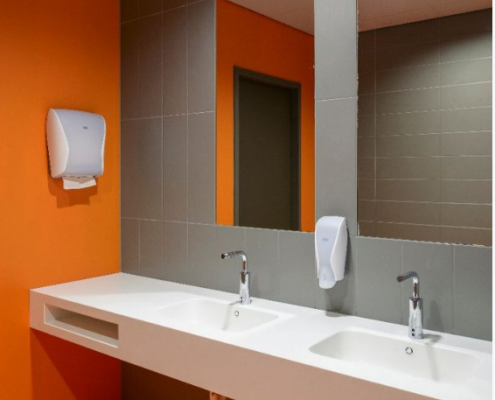 Toiletruimtes Vanderlande Corian