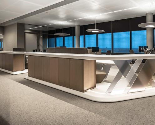 CORA Projects - hi-macs onderdelen - Casper Schwarz Aalberts WTC Utrecht Office 9