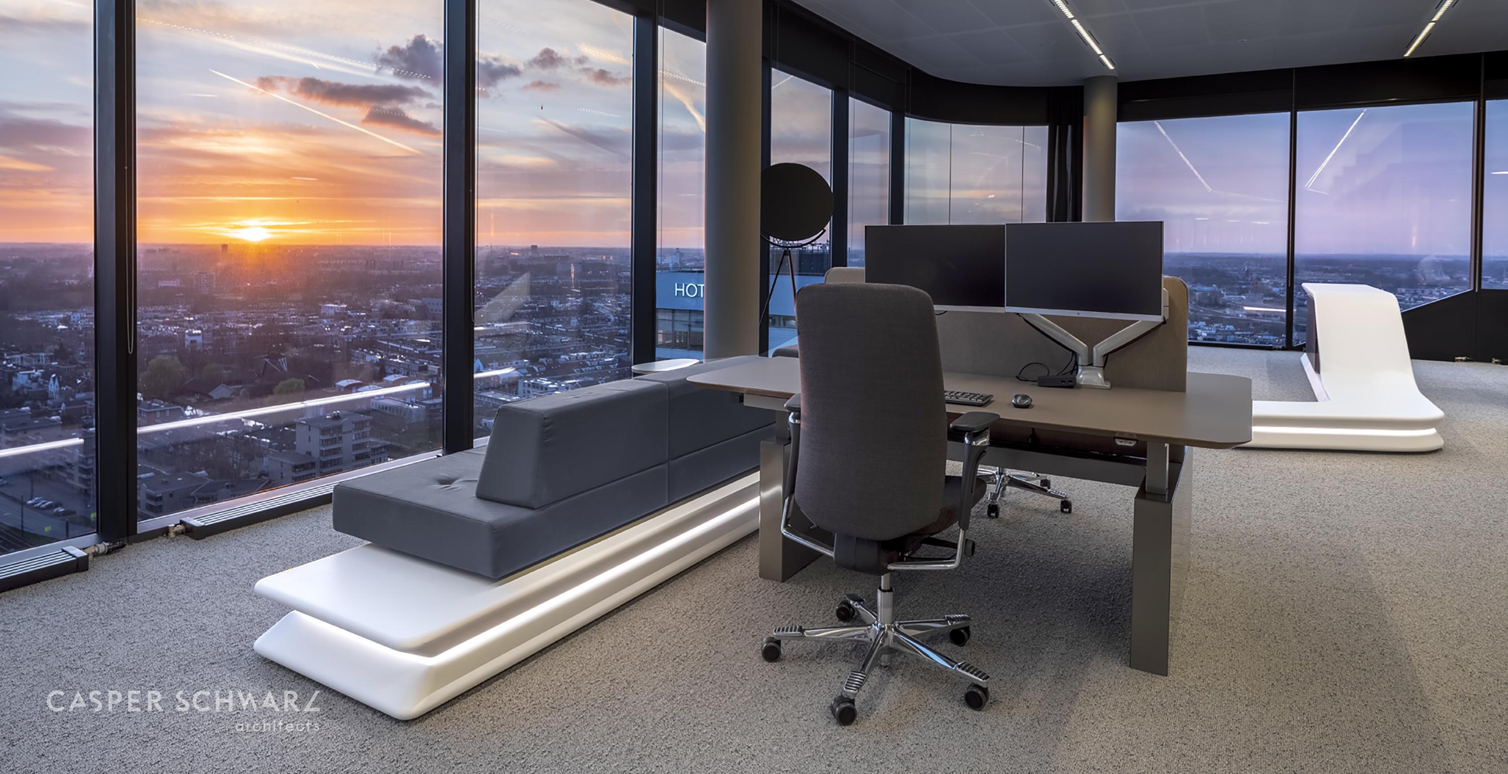 CORA Projects - HI-MACS Gethermovormde Onderdelen - Casper Schwarz Aalberts WTC Utrecht