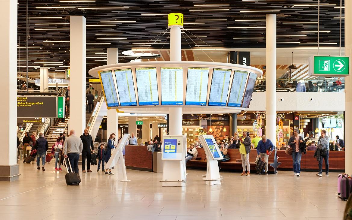 Schiphol HI-MACS informatiezuilen - CORA Projects