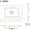 CORA BATHROOM - Solid Surface wastafelblad op maat - CORA LIQUIDO R5 500 DUBBEL