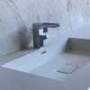 Liquido Rectangle R5 - Solid Surface wastafel op maat left