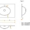 Solid Surface wastafelblad op maat - CORA Creato Oval dubbel