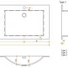 Solid Surface wastafelblad op maat - CORA Creato Wave dubbel