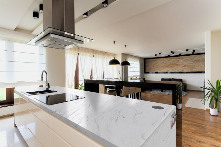 CORA CARRARA Kitchen - werkblad CORA Worktops