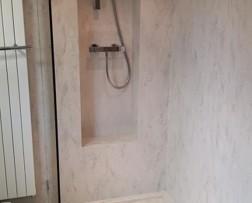 CORA Obliquo Shower - Corian douche-inrichting Clam Shell