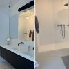 Corian douche-inrichting met Tenso Shower naadloos - dubbel