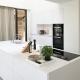 Frisse Corian Keuken met verlijmde wangen - Opstelling