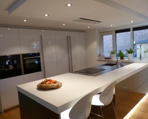 Snaidero keuken - Corian met RVS werkblad - 746-snaidero-keuken-amsterdam-8