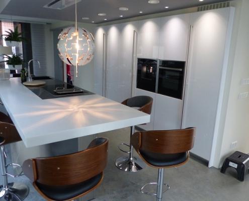 Snaidero keuken - Corian met RVS werkblad - 773-keukens-zeeland-italiaans-2