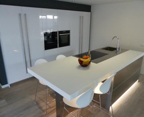 Snaidero keuken - Corian met RVS werkblad - 809-keukens-italiaans-design