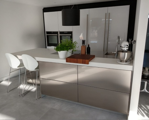Snaidero keuken - Corian met RVS werkblad - 899-keukens-snaidero-alblasserdam-1