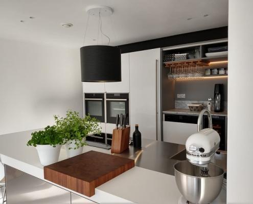 Snaidero keuken - Corian met RVS werkblad - 899-keukens-snaidero-alblasserdam-2