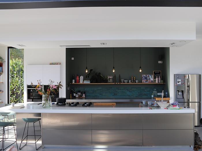 Snaidero keuken - Corian met RVS werkblad - project750-1