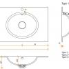 CORA BATHROOM - Solid Surface wastafelblad op maat - CORA RELAX 7310 dubbel