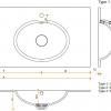 CORA BATHROOM - Solid Surface wastafelblad op maat - CORA RELAX 7320 dubbel