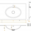 CORA BATHROOM - Solid Surface wastafelblad op maat - CORA RELAX 7330 dubbel