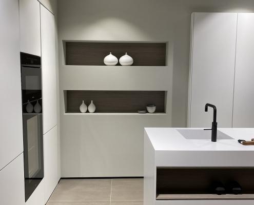 CORA Worktops - Corian Monoblock - ASWA Keukens - Linkerzijde