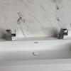 Creato Rectangle XL - CORA Carrara Cremo achterwand - dubbel