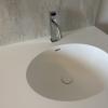 Ovale Solid Surface spoelbak - Incollato Oval - Corian Neutral Aggregate achterwand 2