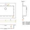 Solid Surface wastafelblad op maat - CORA Creato Rectangle dubbel
