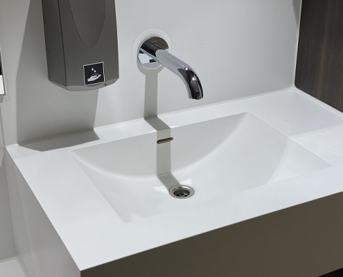 Incollato Wave 840x320 - Solid Surface wastafel op maat