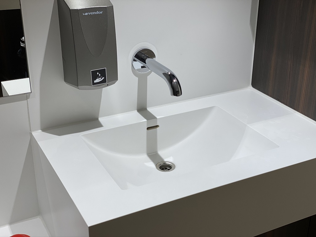 Solid Surface wasbak - Incollato Wave 480x320