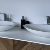 CORA - Solid Surface Opzetkom - Juice Oval Dubbel meubel Robuust 2