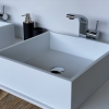 CORA - Solid Surface Opzetkom - Swift Square Meubel Robuust enkel 2
