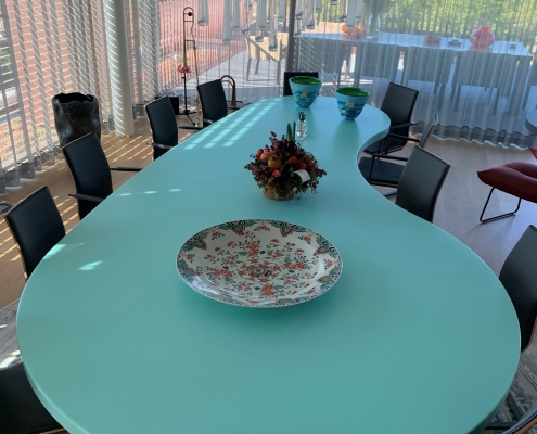CORA Projects - Solid Surface tafelblad - HI-MACS S305 Emerald - 2 - gedraaid - verkleind