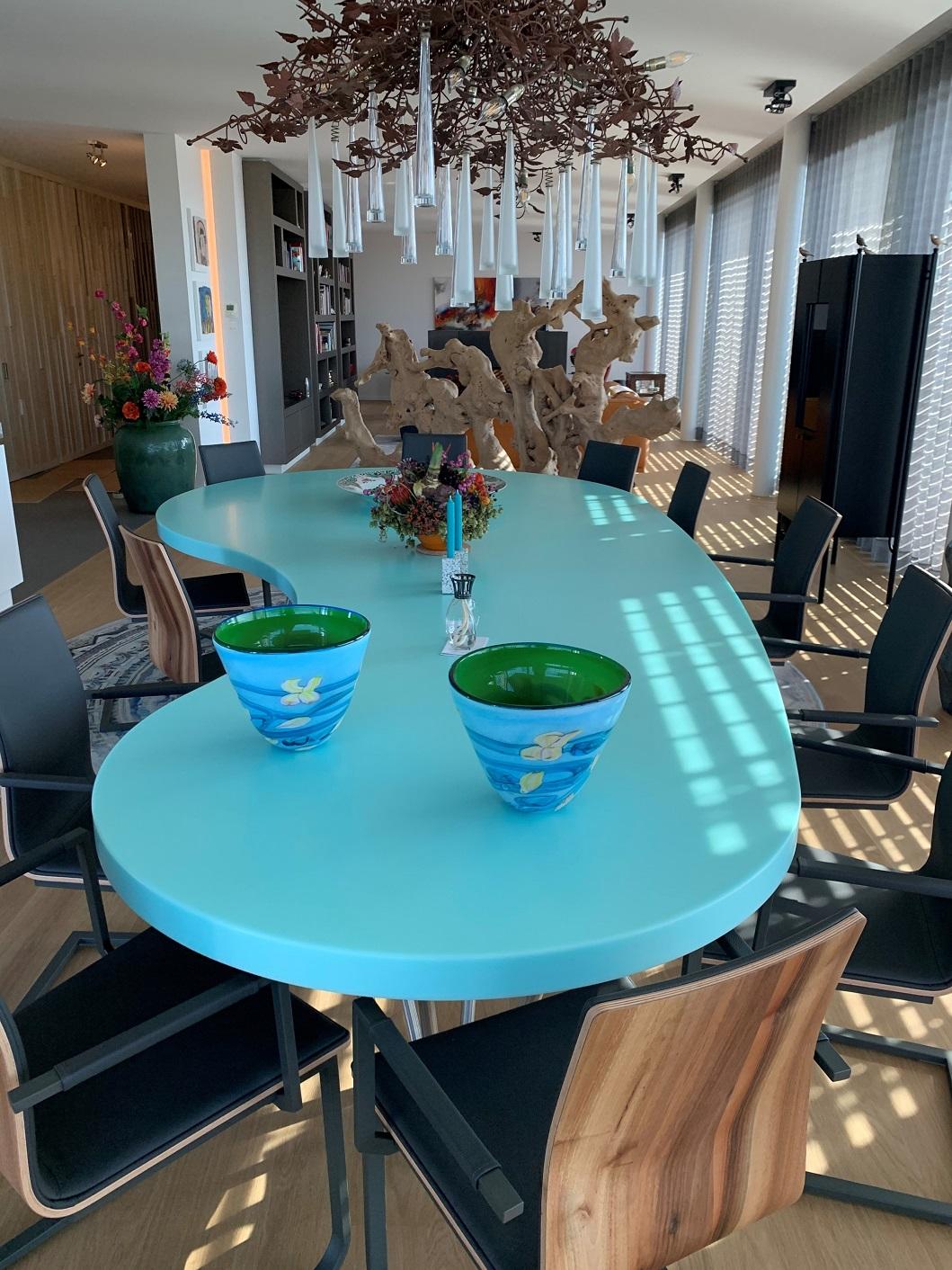 CORA Projects - Solid Surface tafelblad - HI-MACS S305 Emerald 4 - gedraaid - verkleind