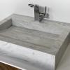 Wasbak Obliquo - Corian Limestone Prima - Right 1