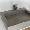 Wasbak Obliquo - Corian Wheatered Concrete - Left 1