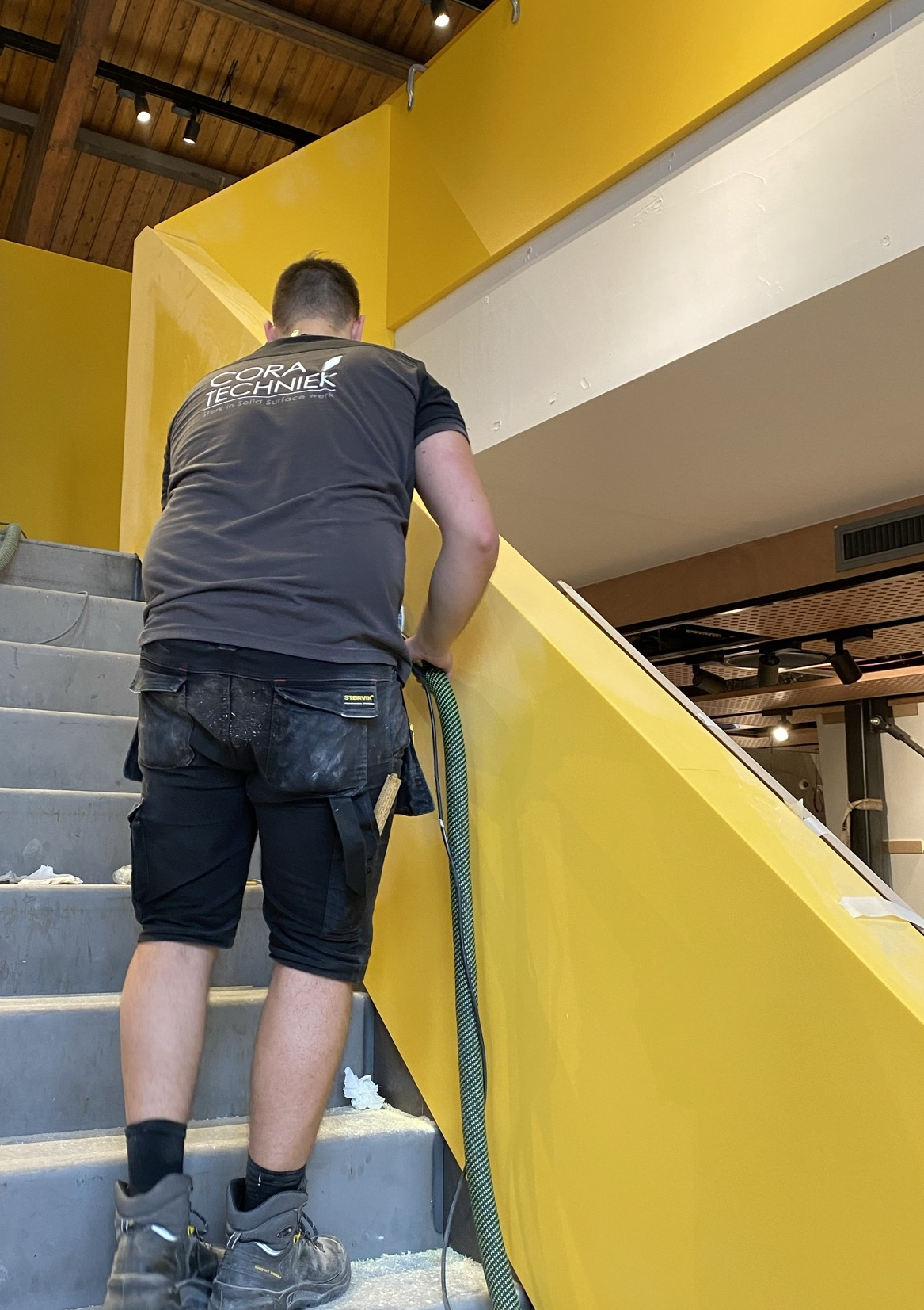 CORA Projects - McDonalds CNSTRCT Corian trap Imperial Yellow5