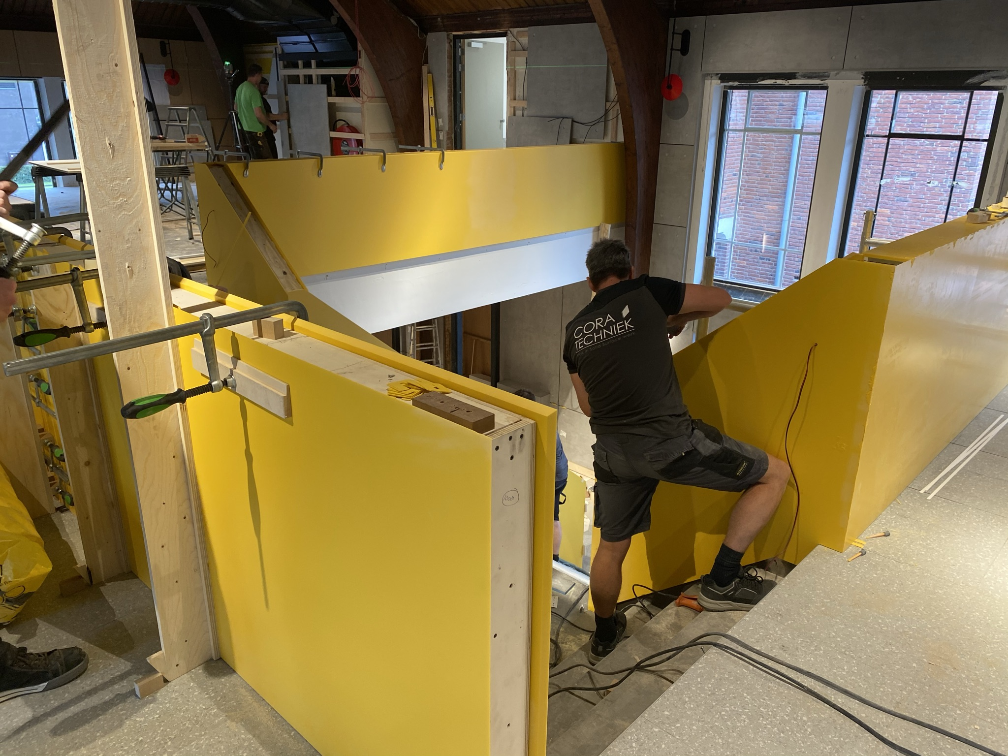 CORA Projects - McDonalds CNSTRCT Corian trap Imperial Yellow6